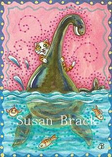 Art: NESSIE CAUGHT BY A CAT by Artist Susan Brack