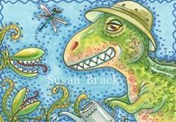 Art: JURASSIC GARDEN by Artist Susan Brack