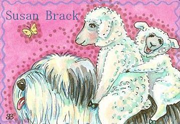 Art: HAVE SHEEP DOG WILL TRAVEL by Artist Susan Brack