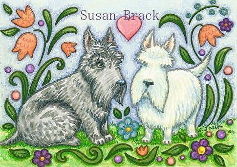 Art: PUPPPY LUV by Artist Susan Brack