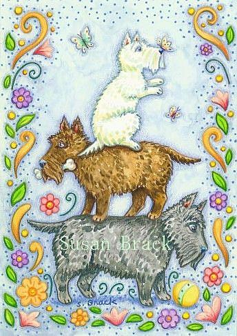 Art: STACK O' SCOTTIES by Artist Susan Brack