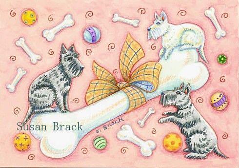 Art: BOW WOW BONES & BALLS by Artist Susan Brack