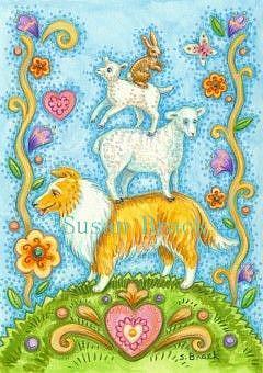 Art: COLLIE ON DUTY by Artist Susan Brack
