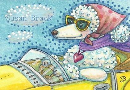 Art: LOOKING POODLE FABULOUS by Artist Susan Brack