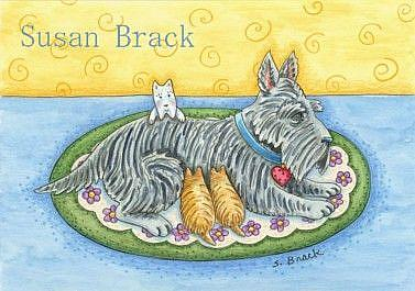 Art: THREE'S A CROWD by Artist Susan Brack