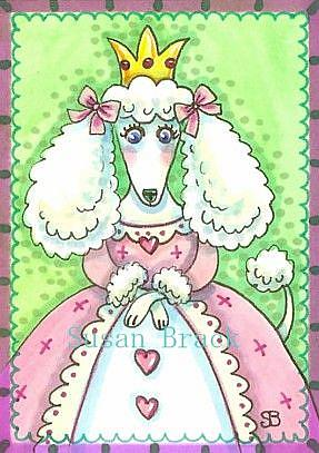 Art: PRINCESS POODLE PUFF by Artist Susan Brack