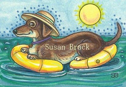 Art: DOXIE A FLOAT by Artist Susan Brack