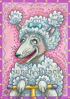 Art: POODLE POGO by Artist Susan Brack