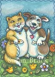 Art: BEST OF FRIENDS by Artist Susan Brack