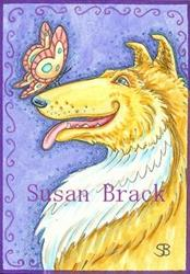 Art: BUTTERFLY GREETING by Artist Susan Brack