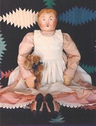 Art: FINELLA Primitive Folk Art Doll by Artist Susan Brack