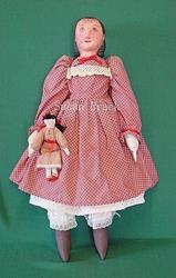 Art: FAITH Primitive Country Folk Art Doll by Artist Susan Brack