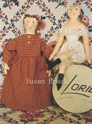 Art: Primitive Folk Art Painted Cloth Dolls by Artist Susan Brack