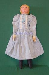 Art: CONSTANCE Primitive Folk Art Doll by Artist Susan Brack