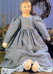 Art: RACHEL Primitive Folk Art Doll by Artist Susan Brack