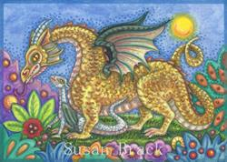 Art: DRAGON'S GARDEN by Artist Susan Brack