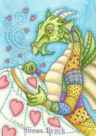 Art: DRAGON HEART QUILT by Artist Susan Brack