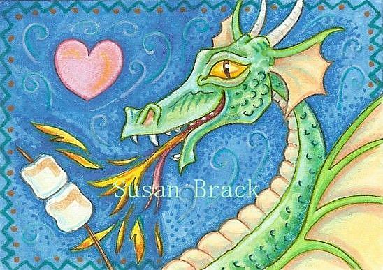 Art: MAKING DRAGON SMORES by Artist Susan Brack