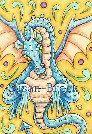 Art: BLUE DRAGON ALERT by Artist Susan Brack