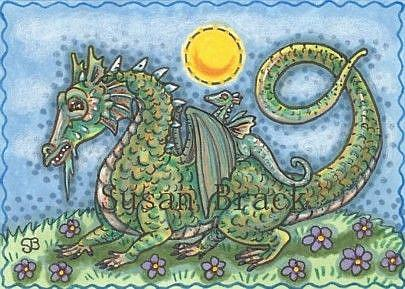 Art: DRAGON FAMILY by Artist Susan Brack