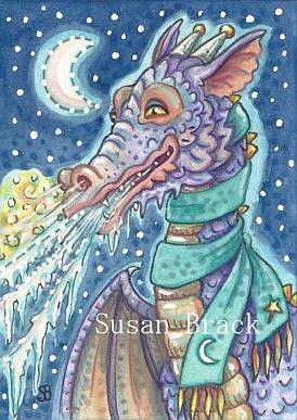 Art: ARCTIC DRAGON by Artist Susan Brack
