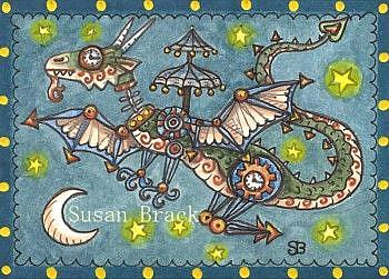 Art: STEAMPUNK DRAGON by Artist Susan Brack