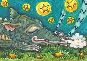 Art: DRAGON SNORES by Artist Susan Brack