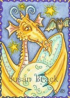 Art: A DRAGON'S MOON by Artist Susan Brack