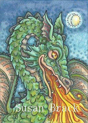 Art: BY THE LIGHT OF A FIRE BREATHING DRAGON by Artist Susan Brack