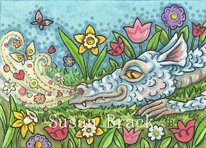 Art: BREATH OF SPRING DRAGON by Artist Susan Brack