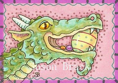 Art: DRAGON'S EASTER EGG HUNT by Artist Susan Brack