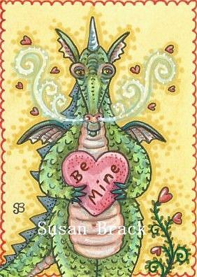 Art: LOOKING FOR LOVE DRAGON by Artist Susan Brack