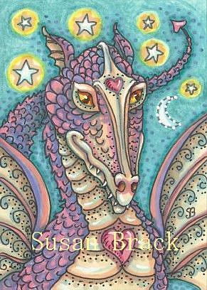 Art: SHADES OF PURPLE DRAGON by Artist Susan Brack