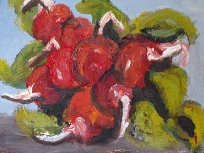 Art: Radish Aceo by Artist Delilah Smith