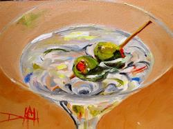 Art: Martini Two Olives by Artist Delilah Smith