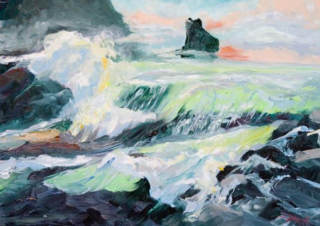 Art: The Breaking Wave by Artist Delilah Smith
