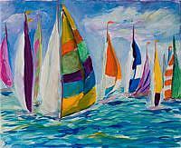 Art: Sail Boats No.2 by Artist Delilah Smith