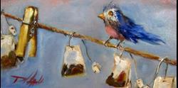 Art: Bird on a Line by Artist Delilah Smith