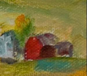 Detail Image for art Tangerine Landscape-sold