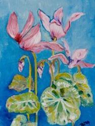 Art: Clyclamen No2 by Artist Delilah Smith