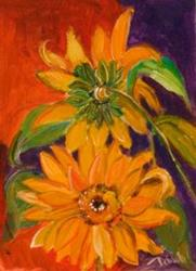 Art: VanGogh Sunflowers by Artist Delilah Smith