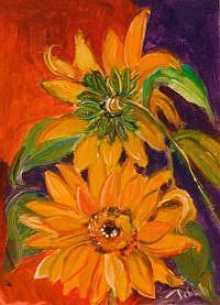 Art: VanGogh Sunflowers=sold by Artist Delilah Smith
