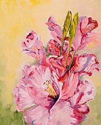 Art: Gladiolias by Artist Delilah Smith