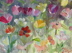 Art: Tulip Fields- SOLD by Artist Delilah Smith
