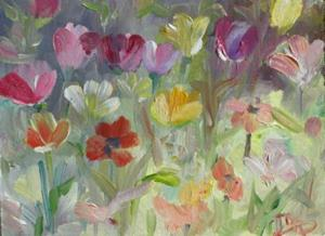 Detail Image for art Tulip Fields- SOLD
