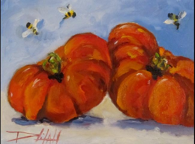 Art: Heirloom Tomatoes by Artist Delilah Smith