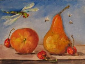 Detail Image for art Peach and Pear