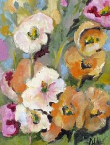 Detail Image for art Hollyhocks No2-sold