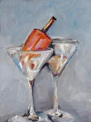 Art: Creamsicle Martini by Artist Delilah Smith