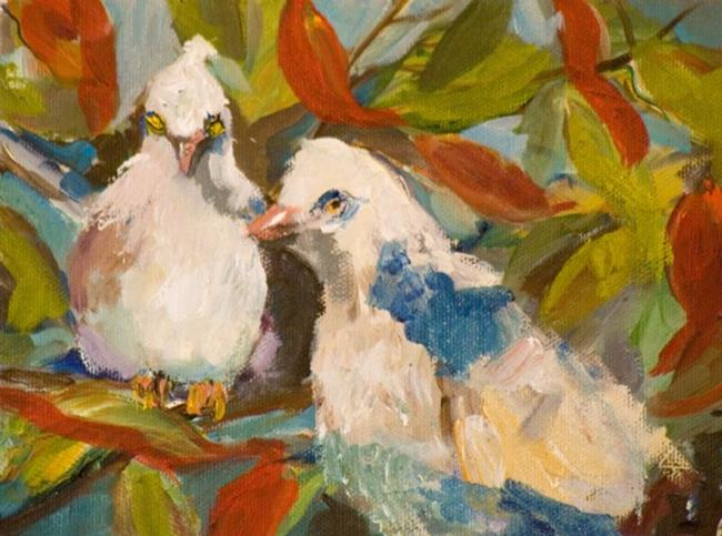 Art: Two Turtle Doves by Artist Delilah Smith